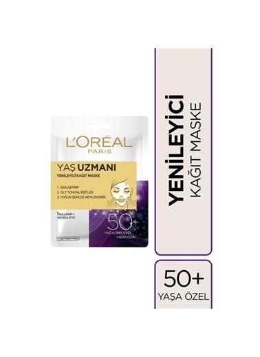 L'Oréal Paris Yaş Uzmanı Yenileyici Kağıt Maske 50+ Renksiz